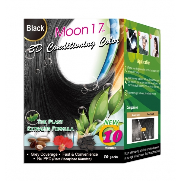 Moon17 3D Conditioning Color - Black (NO PPD)  10 Packs
